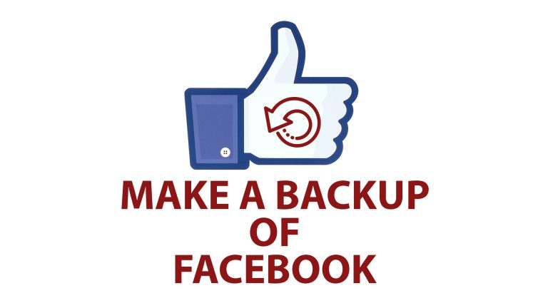 Make A Facebook Backup